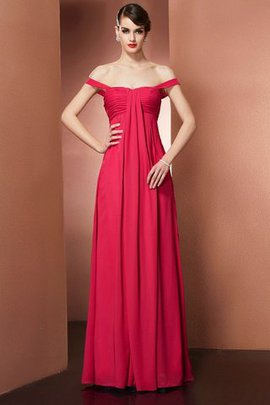 Chiffon Beading Empire Waist A-Line Evening Dress