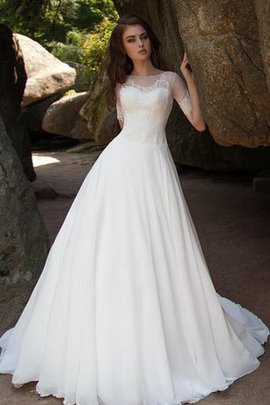 Romantic Simple Beach Pleated Short Sleeves Wedding Dress