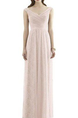 Sleeveless A-Line Tulle Floor Length Ruched Bridesmaid Dress