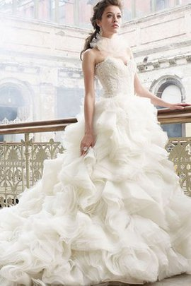 Ball Gown Sleeveless Natural Waist Lace Floor Length Wedding Dress
