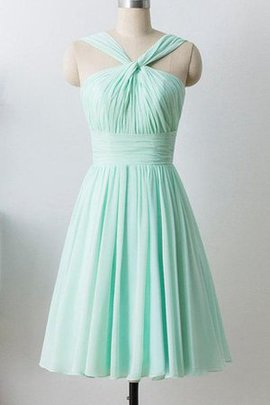 Formal Knee Length Lace-up Sleeveless Simple Bridesmaid Dress