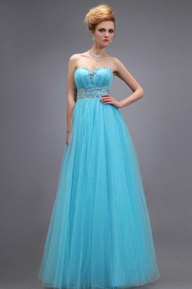 Tulle Empire Waist Ruched Long A-Line Evening Dress