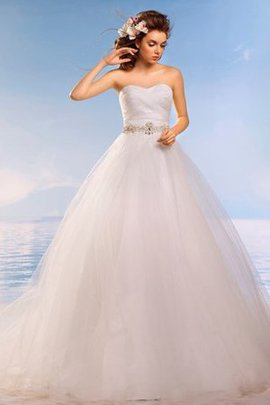 Ball Gown Beach Lace-up Court Train Tulle Wedding Dress