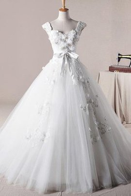 Beading Floor Length Spaghetti Straps Lace Wedding Dress