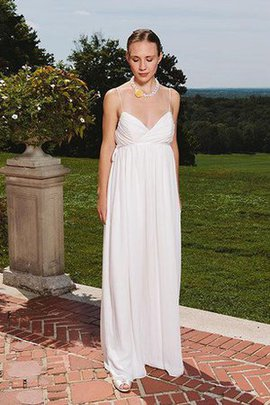 Chiffon Sleeveless Informal & Casual Floor Length Zipper Up Wedding Dress