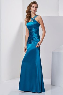 Long Sleeveless Empire Waist Wide Straps Prom Dress