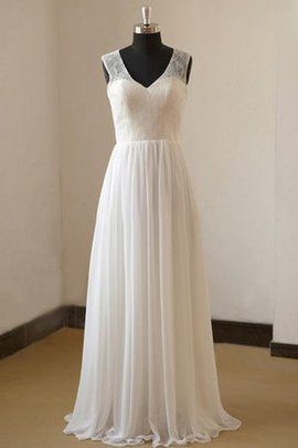 Beach V-Neck Sleeveless Sexy Floor Length Wedding Dress