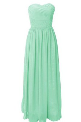 Natural Waist A-Line Pleated Floor Length Chiffon Bridesmaid Dress