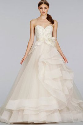 Ball Gown Sweetheart Backless Natural Waist Lace Wedding Dress