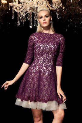 Lace A-Line Half Sleeves Short Cocktail Dress