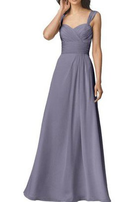 Ruched Long Pleated Floor Length Chiffon Bridesmaid Dress