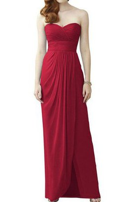 A-Line Sweetheart Long Ruched Floor Length Bridesmaid Dress