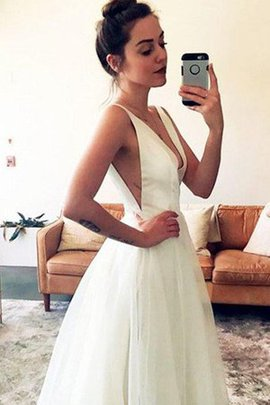 Natural Waist Pretty Long Misses Hall Sleeveless Sweep Train Wedding Dress