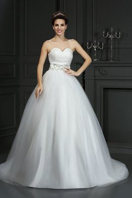 Sleeveless Ball Gown Sweetheart Lace-up Long Wedding Dress