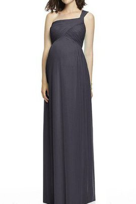 Floor Length One Shoulder Chiffon Maternity Ruched Bridesmaid Dress