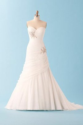 Church Jewel Accented No Waist Formal Inverted Triangle Wedding Dress
