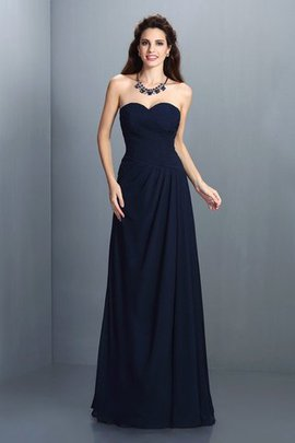 Floor Length Sleeveless Empire Waist A-Line Long Bridesmaid Dress