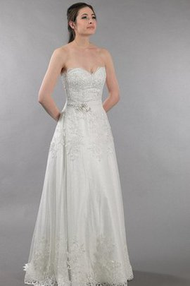 Beading Ruched Lace Fabric Sleeveless Pleated Wedding Dress