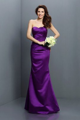 Satin Draped Strapless Mermaid Empire Waist Bridesmaid Dress