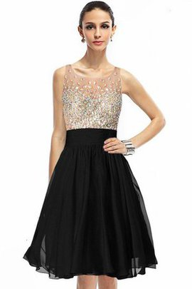 Sleeveless Chiffon Simple A-Line Sequined Homecoming Dress