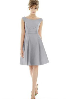 Morden A-Line Bateau Suitable Pleated Bridesmaid Dress