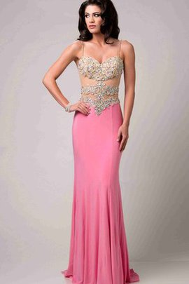 Long Sweep Train Sleeveless Beading Sexy Prom Dress