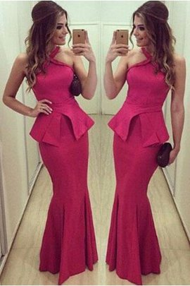 Halter Sexy Mermaid Floor Length Sleeveless Evening Dress