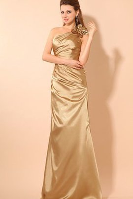 Flowers One Shoulder Beautiful Ruched Evening Dress