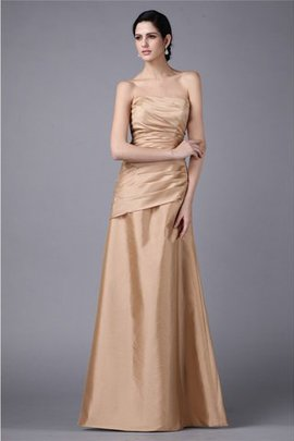Pleated Sheath Floor Length Sleeveless Zipper Up Prom Dress