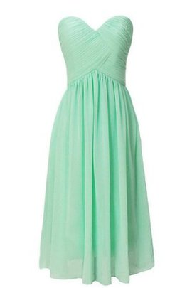 Short Chiffon Lace-up Ruched Strapless Bridesmaid Dress