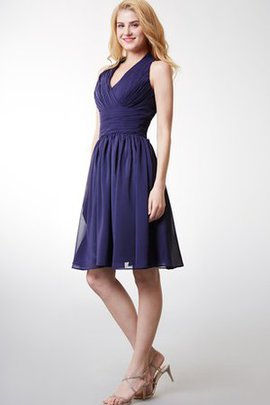 Tiered Chiffon A-Line Knee Length Chic & Modern Cocktail Dress