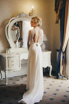 Court Train Chiffon Sashes Lace Sexy Wedding Dress