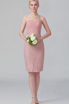 Lace Short Sweetheart Zipper Up Bridesmaid Dress