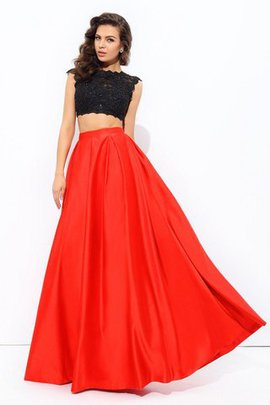 Floor Length Natural Waist Long Sleeveless A-Line Prom Dress