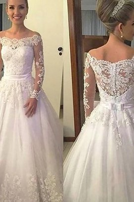 Beading Off The Shoulder Pleated Fantastic Embroidery Hall Court Train Wedding Dress