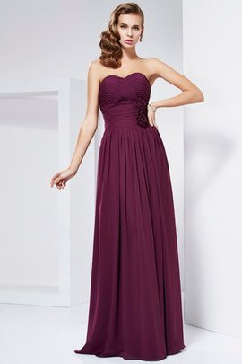 Zipper Up Sleeveless Draped Floor Length Sheath Prom Dress