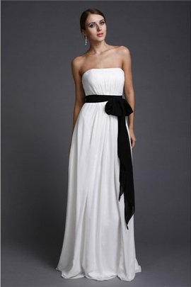 Zipper Up Long Sheath Sashes Sleeveless Bridesmaid Dress