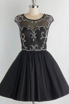 Lace Fabric Elegant & Luxurious Short Sleeves Jewel Tulle Party Dress