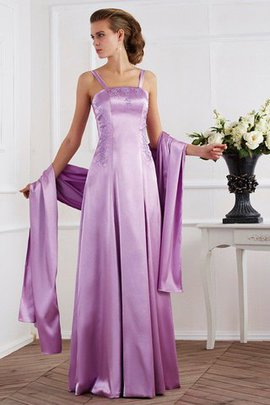Empire Waist A-Line Zipper Up Long Mother Of The Bride Dress
