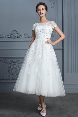Chic & Modern Jewel Accented Button Zipper Up Outdoor Informal & Casual Wedding Dress