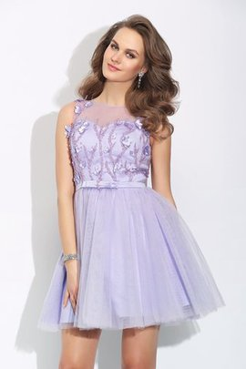 Princess Sleeveless Satin Natural Waist Short Party Dress