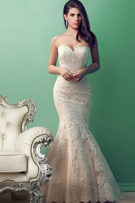 Vintage Sweetheart Romantic Lace Fabric Mermaid Wedding Dress