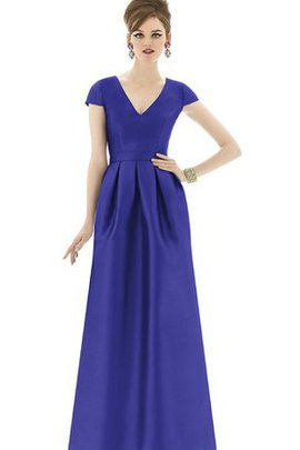 Sleeveless Short V-Neck Mature Bridesmaid Dress