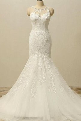 Bateau Sexy Mermaid Backless Sleeveless Wedding Dress
