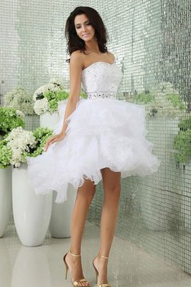 Informal & Casual Strapless Short Sleeveless Wedding Dress