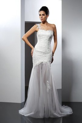 Mermaid Chapel Train Sleeveless Lace Empire Waist Wedding Dress