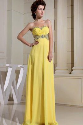 Ruched Long Chiffon Morden Beading Evening Dress