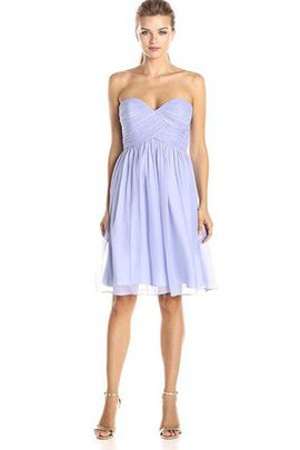 Sweetheart Short Ruched Chiffon Short Sleeves Bridesmaid Dress