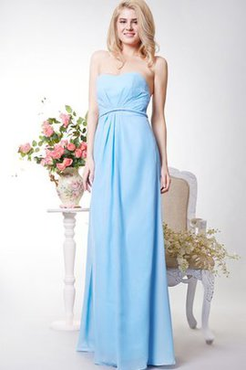 Keyhole Back Ruched A-Line Floor Length Chiffon Bridesmaid Dress