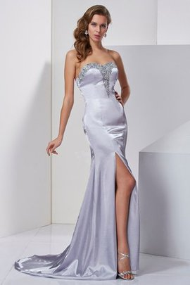 Sleeveless Sweetheart Sweep Train Long A-Line Evening Dress